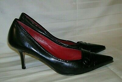 Coach Kennedi Black Italian Leather Pumps-Classic heels women's Shoes Size 7.5 B