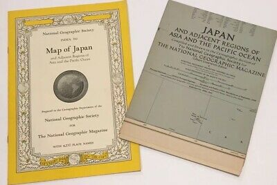 Vintage 1944 National Geographic Map of  Japan and Adjacent Regions of Asia.