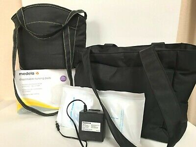 Medela 'Pump in Style' & Ameda  'Purely Yours' + Tote Bags, Nursing Pads  LOT