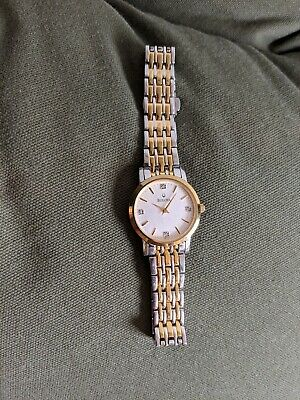Bulova Diamond  Two Tone Stainless Steel Ladies Watch Dress Quartz new battery