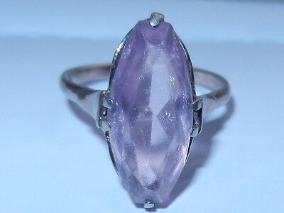 Rare Soviet VTG old Russian Sterling SILVER 875 USSR Ring Size 8 pink stone