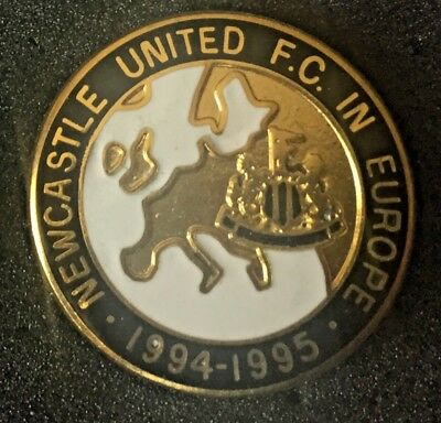 Rare Newcastle United In Europe 1994-1995 Enamel Pin Badge