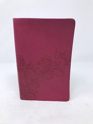 New King James Version Holy Bible Pink Leather Bound Floral Excellent