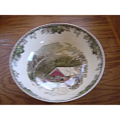 Johnson Brothers - Friendly Village - Covered Bridge - Punch bowl
