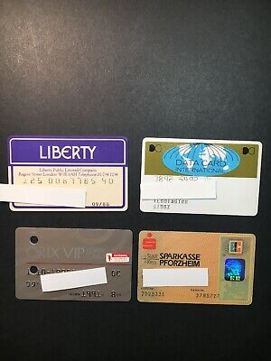 4 Expired Credit Cards For Collectors - International Lot 3 (3265)