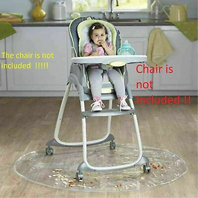 50 Inch Baby High Chair Infant Toddler Feeding Floor Protector Floor Mat Clear