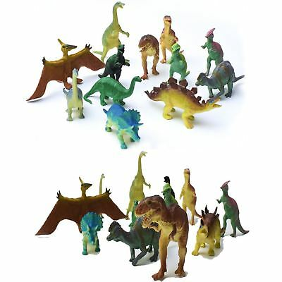 Jumbo Realistic Dinosaur Toys Assorted Pack of 12 Lot Jurassic Park 6'' Figures