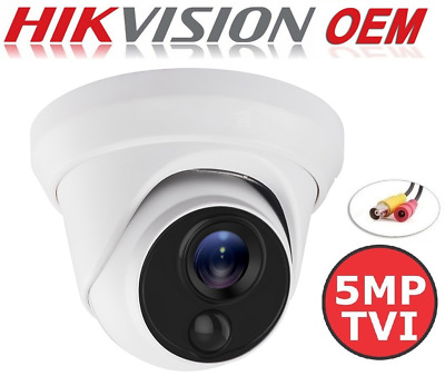 DS-2CE56H5T-IT1E OEM 5MP Power Over Coax HD-TVI 2.8mm Turret Security Camera