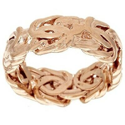QVC Bronzo Italia Polished Woven Byzantine Band Ring Size 5 $98