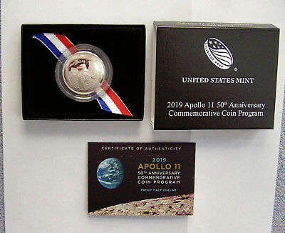 2019 Apollo 11 50th Anniversary Proof Half Dollar
