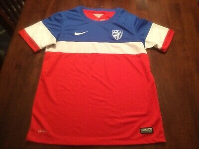 9f0a4703 USMNT Team USA Soccer Authentic Nike Jersey Youth XL Boys Kit EUC World Cup