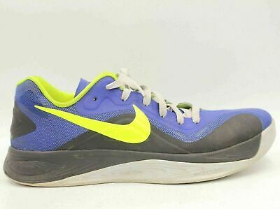 size 40 2f061 3e21d NIKE Hyperfuse 2012 Men Low Basketball Shoes Size 11 Blue Yellow 555034-402