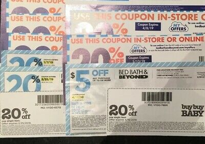 Lot Of Bed Bath & Beyond Coupons And Buy Buy Baby Coupons (as Shown)