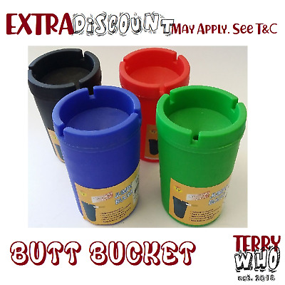 ASHTRAY 2x  Butt Bucket Cigarette Tobacco Color Holder Ash Container Storage