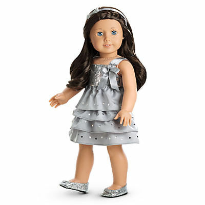 American Girl Silver Shimmer Dress For Doll New In Box Retired