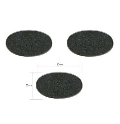 Wargames/Warhammer 60mm x 35mm Oval Bases (3 Pieces)