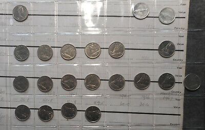 Canada Date Run 1967 to 81 10 Cent Bulk Lot  of 21  coins  (inc 2 silver UNC )
