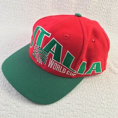 028343a80e0d73 Italy Italia Vintage 1994 World Cup Snapback Hat Red & Green Baseball Cap