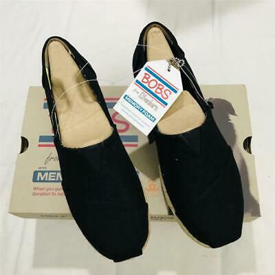 3299db31298c SKECHERS LADIES  BOBS Wedge Canvas Shoes - BLACK (Select Size ...