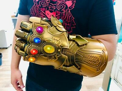 HCMY Thanos Infinity Gauntlet Full Metal 1:1 Wearable LED Statue Cosplay Props
