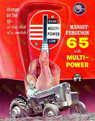 Massey Ferguson 65 Change On The Go Tractor Poster (A3) - (3 for 2 off