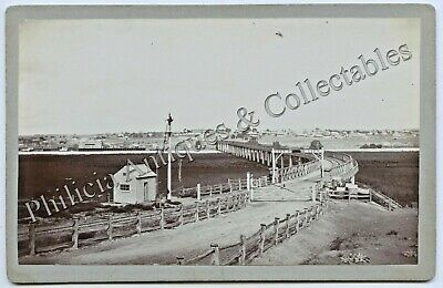 C.1880'S South Australian Cabinet Photograph  Murray Bridge Railway Bridge X91