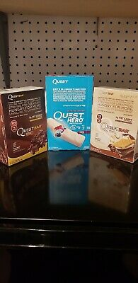 Quest lot of 34 bars,Chocolate Brownie, Blueberry Clobber,& Smores!! Read please