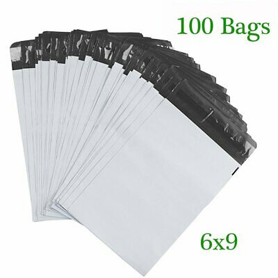 100 Poly Mailers 6x9 Envelopes Shipping Postal Bags 2.5 Mil Self Sealing Plastic