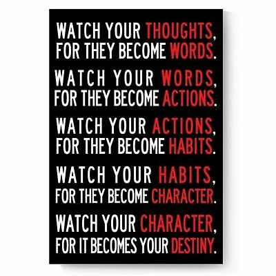 Watch Your Thoughts Motivational Poster Collections Poster Print Art Wall Decor