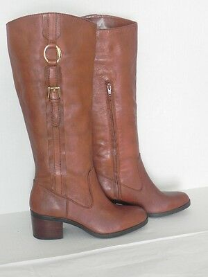 Ralph Lauren Raeanne Brown Tan Leather Riding Equestrian Knee High Boots 9.5