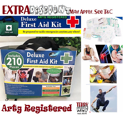 First Aid Kit 210 piece Family Supplies Survival Medical Workplace Travel Set