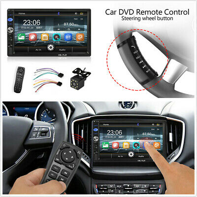 7'' 2 DIN Car Radio Bluetooth MP5 Player w/Steering Wheel Remote Rearview Camera