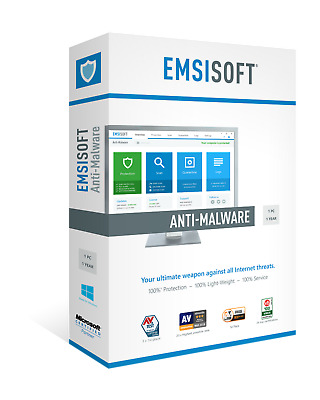 Emsisoft Anti-Malware Home 1 Year 1 Computer [Special OFFER] | Fast Delivery