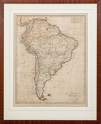 Map South America Antique