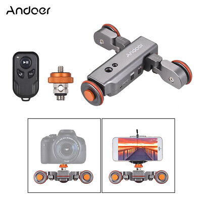 Andoer L4 Electric Auto Dolly Video Car Motorized Track Slider for Canon Camera