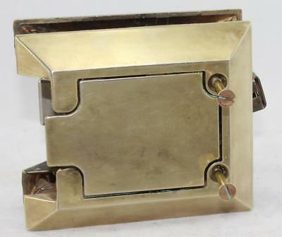 Beautiful-Vintage-SOSS-(Lev-R)Brass Door Latch-Complete w/Instructions-Early-MCM