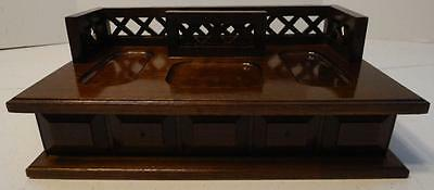 Men's Vintage Valet Wallet Wood Jewelry Box Organizer With Drawer
