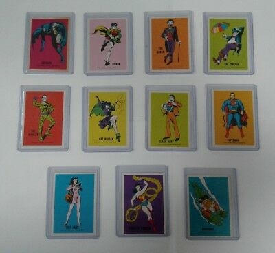 Wonder Bread DC Comics Cards 1974 Full Set 11 Batman Superman Wonder Woman!