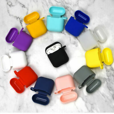 Silicone Case Cover Skin & Hook Shock-Proof for Apple Airpod Earpod Accessorys