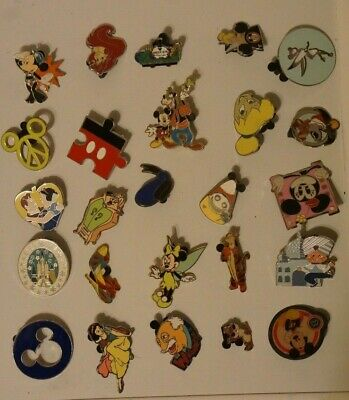 Disney Pin Trading 25 Assorted Pin Lot - No Doubles - Tradable