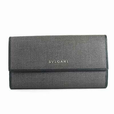 size 40 57bcc 2d7f1 AUTH BVLGARI BIFOLD weekend with Coin Pocket 32582 Long ...