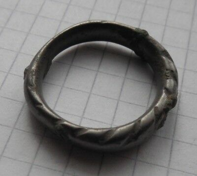 Viking period tin bronze whole psevdo-twisted ring, American Size 11