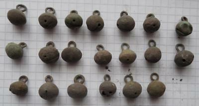 Viking period selection 20 bronze whole buttons bells VF+++