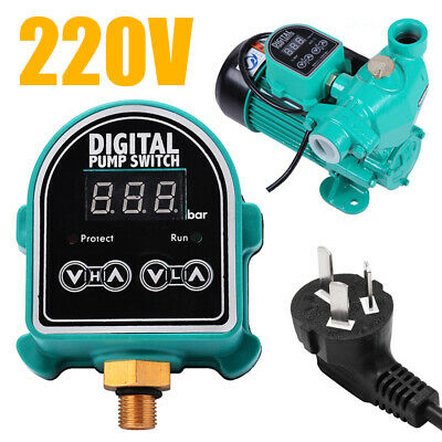 220V 10A Automatic Digital Pressure Switch Controller ON/OFF Water Air Gas Pump