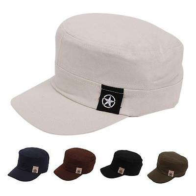 Men Women Brim HAT Commen Flat Cap Baseball Peaked Cap Army Hat LI