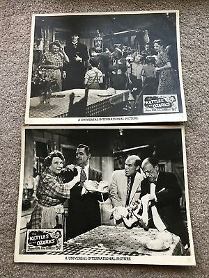 2 ORIGINAL LOBBY CARDS 11x14: The Kettles in the Ozarks (1956) Majorie Main