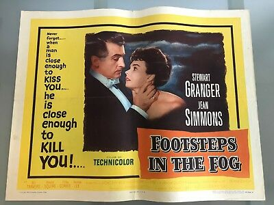 ORIGINAL HALF SHEET POSTER 22x28: Footsteps in the Fog (1955) Stewart Granger