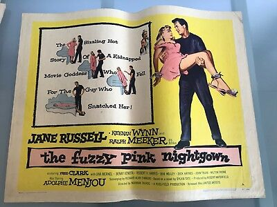 ORIGINAL HALF SHEET POSTER 22x28: The Fuzzy Pink Nightgown (1957) Jane Russell