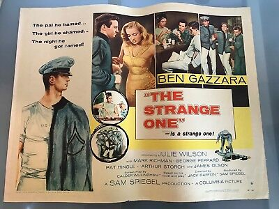 ORIGINAL HALF SHEET POSTER 22x28 The Strange One (1957) Ben Gazzara, June Wilson
