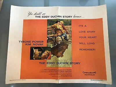 ORIGINAL HALF SHEET POSTER 22x28: The Eddy Duchin Story (1956) Tyrone Power